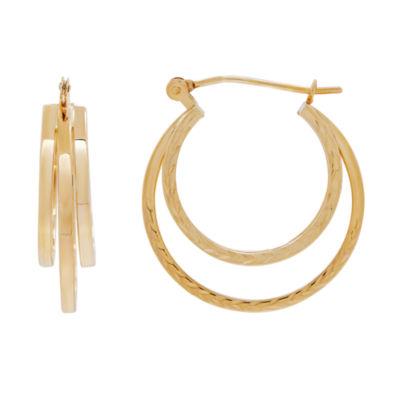 14K Gold 20.6mm Hoop Earrings