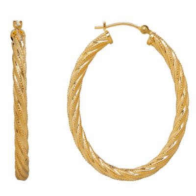 14K Gold 36mm Hoop Earrings