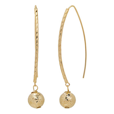 14K Gold Drop Earrings