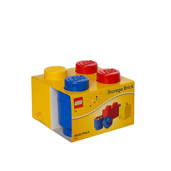 3 Piece Multi Pack Storage Brick Lego Toy Box