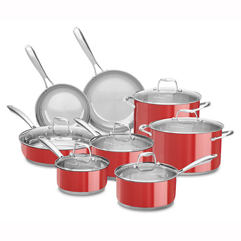 KitchenAid® 14-pc. Stainless Steel Cookware Set