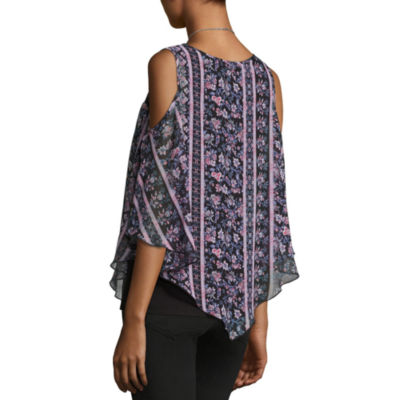 Alyx Print Cold Shoulder Popover Top