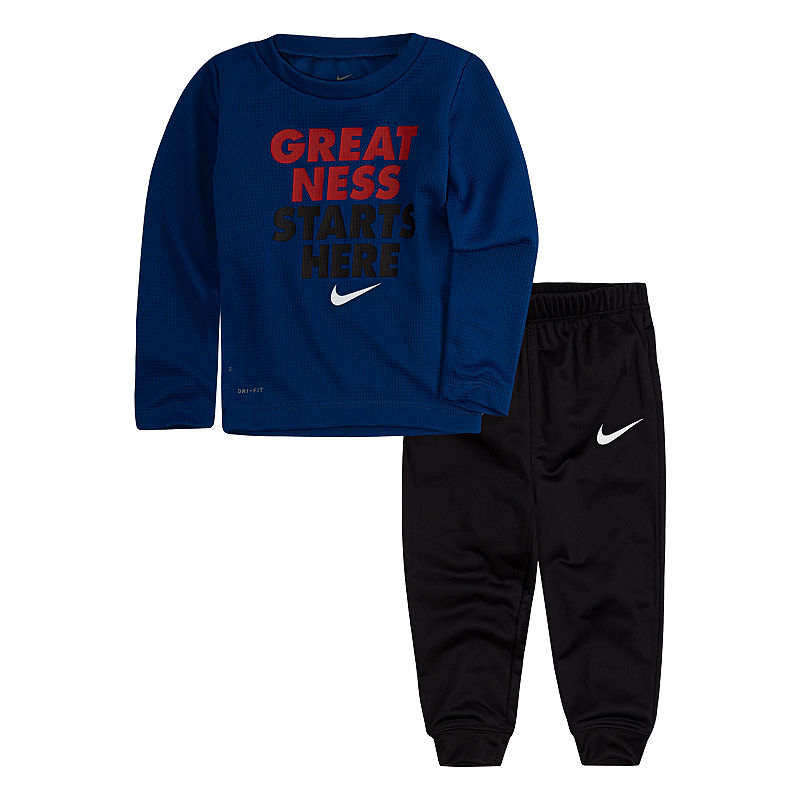 Nike 2-pc. Pant Set Baby Boys – Boys Size 12 Months Gym Blue Outfit Sets