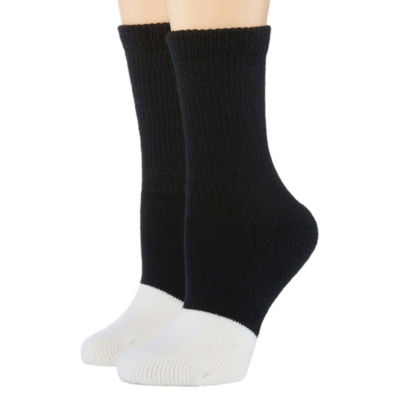 Berkshire 2 Pair Diabetic Crew Socks - Extended Sizes