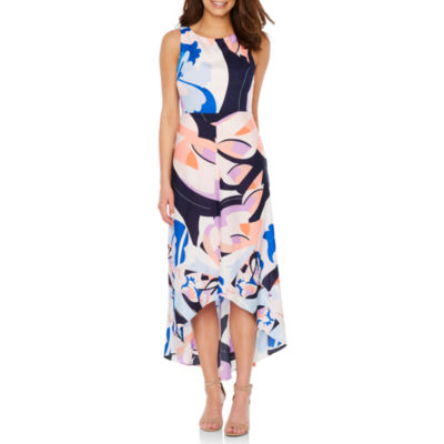 Nicole By Nicole Miller Sleeveless Abstract Maxi Dress