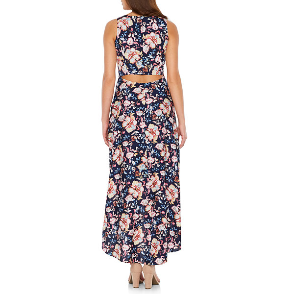 Nicole By Nicole Miller Sleeveless Floral Maxi Dress