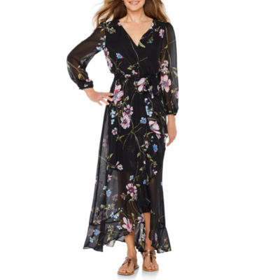 Melrose Long Sleeve Floral Maxi Dress