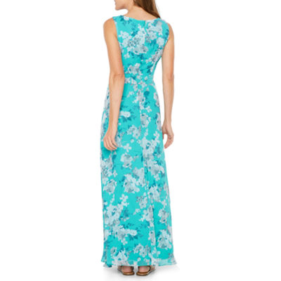 R & K Originals Sleeveless Floral Maxi Dress
