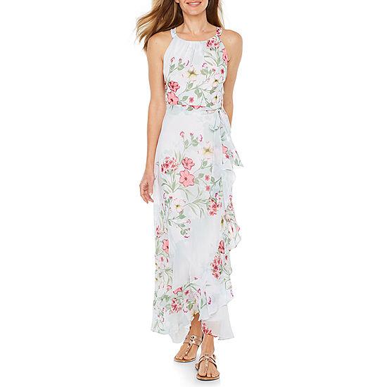 R K Originals Sleeveless Floral Maxi Dress