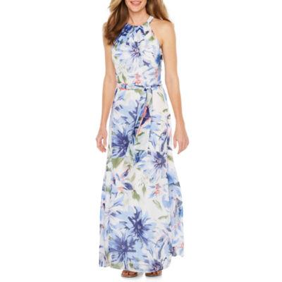 Be by CHETTA B Sleeveless Floral Maxi Dress