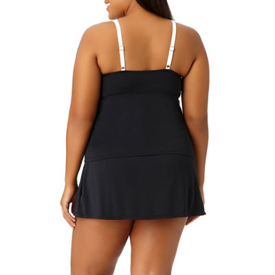 Liz Claiborne High Neck Swimsuit Top-Plus