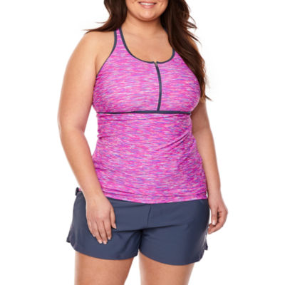 Free Country Tankini Swimsuit Top-Plus
