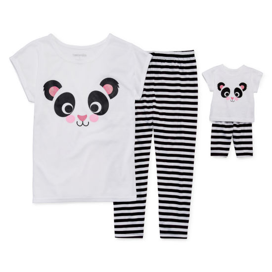 2pc.Pant Pajama Set & Doll PJs
