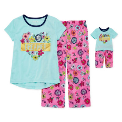 2pc. Pant Pajama Set Girls & Doll PJs