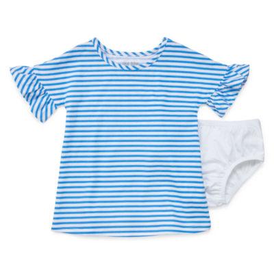 Okie Dokie Bell Sleeve Stripe Dress - Baby Girl NB-24M