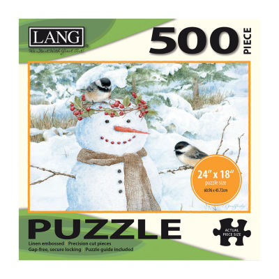 LANG Chickadee Snowman Puzzle - 500 Pc
