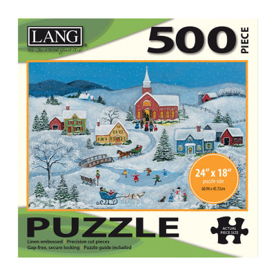LANG Snowy Evening Puzzle - 500 Pc