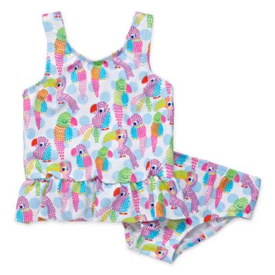 Kiko & Max Girls Parrot Tankini Set - Baby Girl