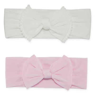 Okie Dokie Pink & White 2 Pack Headband  - Baby