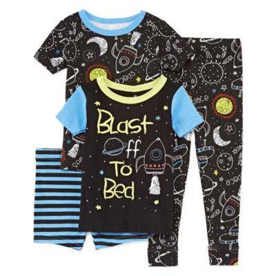 Night Life 4-pc. Pajama Set Boys