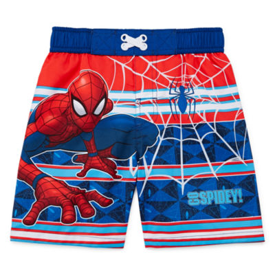 Spiderman Swim Trunks - Toddler Boys
