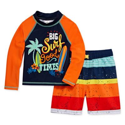 Big Surf Good Times Rash Guard Set - Toddler Boys