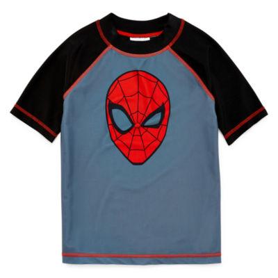 Spiderman Rash Guard - Preschool Boys 4-7