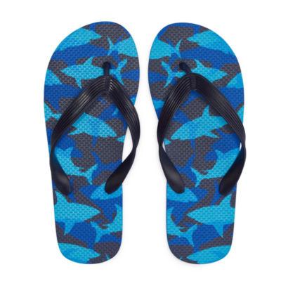 Arizona Shark Print Flip Flops - Boys 4-20