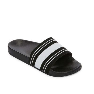 Arizona Black & White Slide Sandals - Boys 4-20