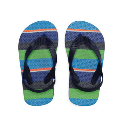 Okie Dokie Stripe Flip Flop - Toddler Boys