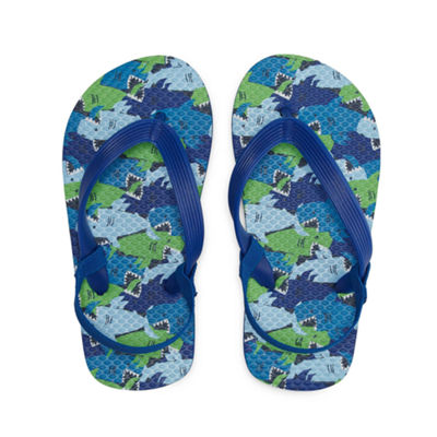 Okie Dokie Shark Flip Flop - Toddler Boys