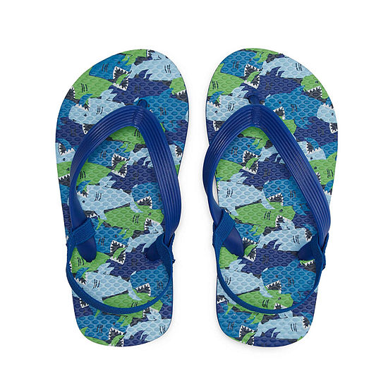 Okie Dokie Shark Flip Flop - Toddler Boys