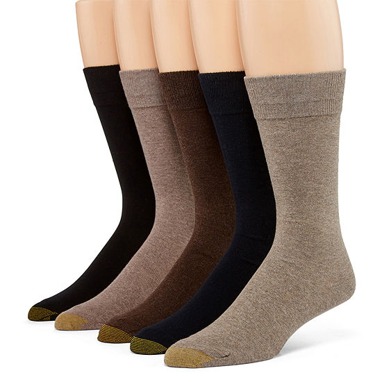 Gold Toe 5 Pair Crew Socks-Mens