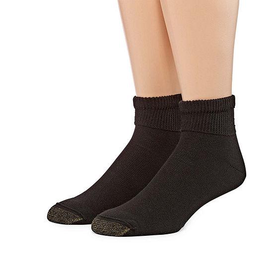 Gold Toe Men's 2 Pair Non-Binding Quarter Socks - Extended Size