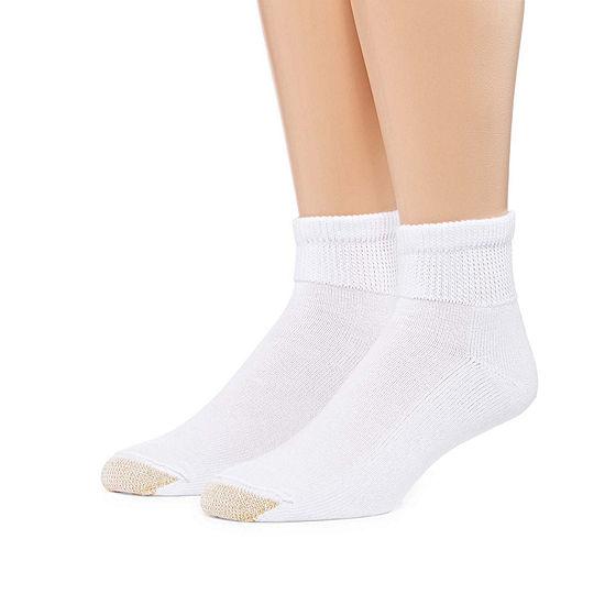 Gold Toe 2 Pair Non Binding Super Soft Quarter Socks - Men's