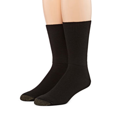 Gold Toe 2 Pair Non-Binding Crew Socks - Men's