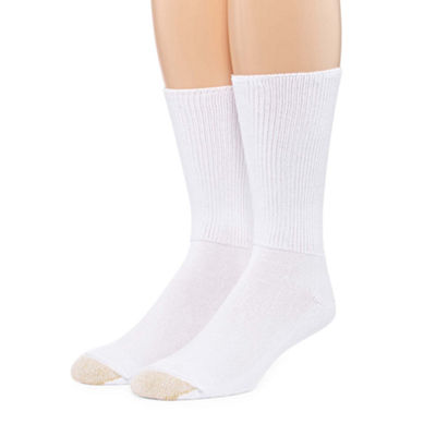 Gold Toe 2 Pair Non-Binding Crew Socks - Men's