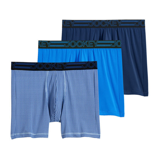Jockey Active Micro Stretch 3 Pair Boxer Briefs
