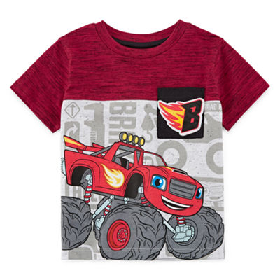 Blaze Boys Crew Neck Short Sleeve Applique Blaze and The Monster Machines Graphic T-Shirt-Toddler