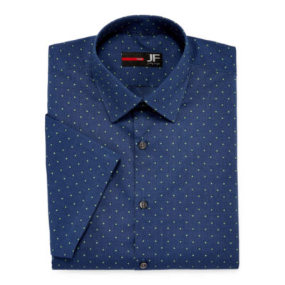 JF J.Ferrar Stretch Short Sleeve Dress Shirt - Slim