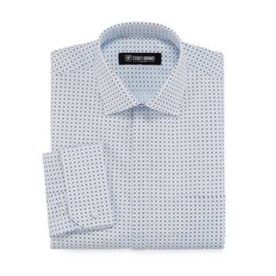 Stacy Adams Long Sleeve Woven Pattern Dress Shirt - Big