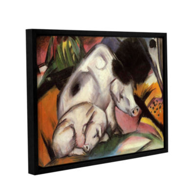 Brushstone Pigs(also039) Gallery Wrapped Floater-Framed Canvas Wall Art