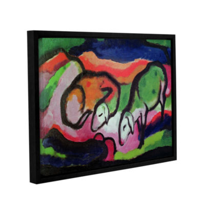 Brushstone Sheep Gallery Wrapped Floater-Framed Canvas Wall Art