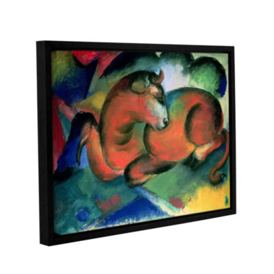 Brushstone The Red Bull Gallery Wrapped Floater-Framed Canvas Wall Art