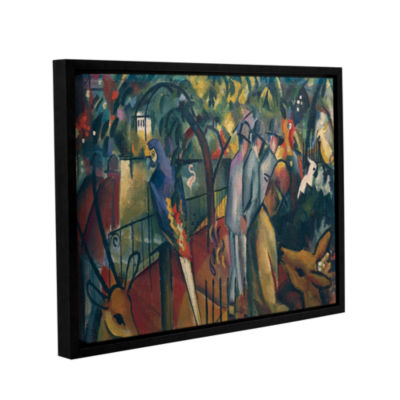 Brushstone Zoological Garden I Gallery Wrapped Floater-Framed Canvas Wall Art