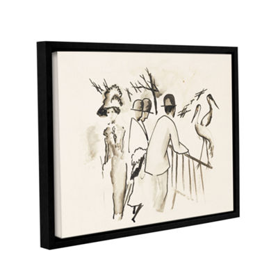 Brushstone Zoological Garden II Gallery Wrapped Floater-Framed Canvas Wall Art