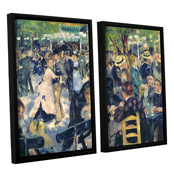 Brushstone Ball at The Moulin de la Galette 2-pc. Floater Framed Canvas Wall Art