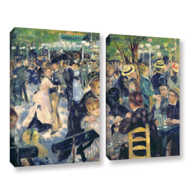Brushstone Ball at The Moulin de la Galette 2-pc.Gallery Wrapped Canvas Wall Art