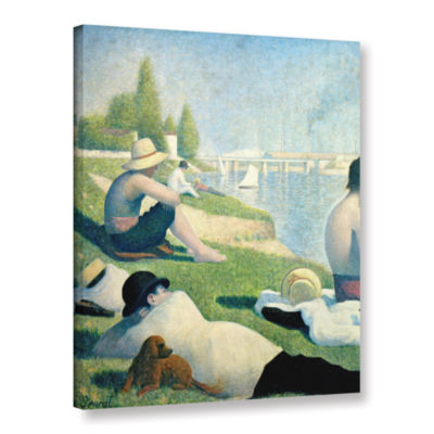Brushstone Bathing At Asnieres Gallery Wrapped Canvas Wall Art