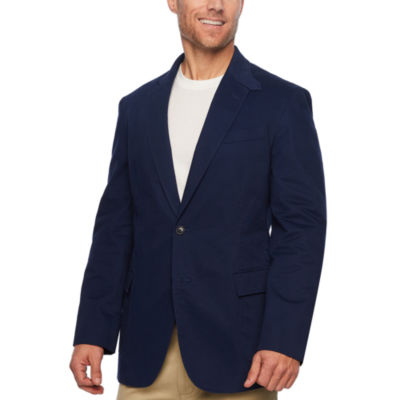 Stafford Navy Utility Classic Fit Sport Coat